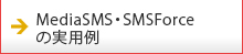 MediaSMS・SMSForceの実用例